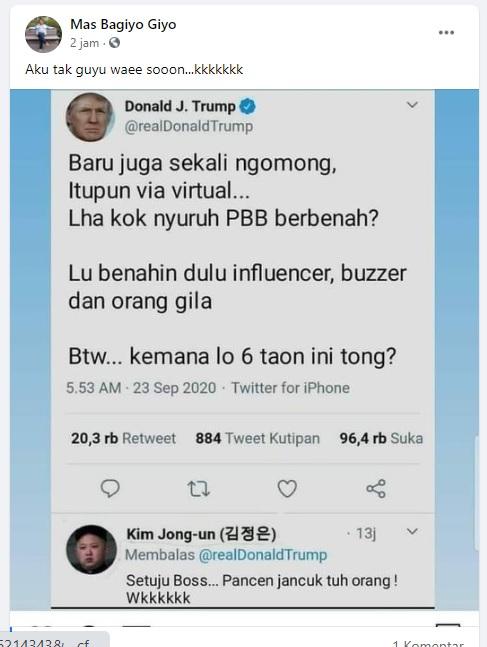[Cek Fakta] Donald Trump Sindir Isi Pidato Jokowi di PBB? Ini Faktanya
