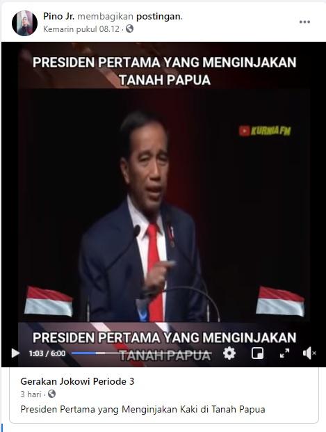 [Cek Fakta] Jokowi Presiden Indonesia Pertama yang Menginjakan Papua? Ini Faktanya