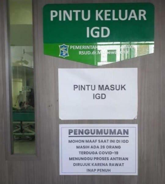 RSUD dr Soetomo Surabaya Bantah Tolak Pasien Covid-19