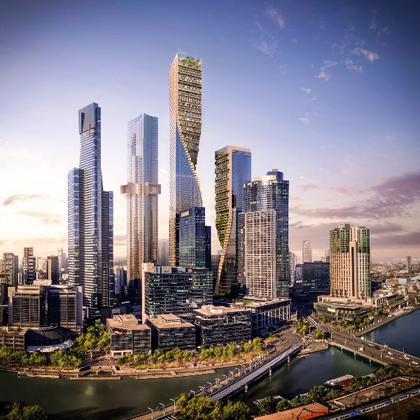 Liukan taman gantung pencakar langit Melbourne