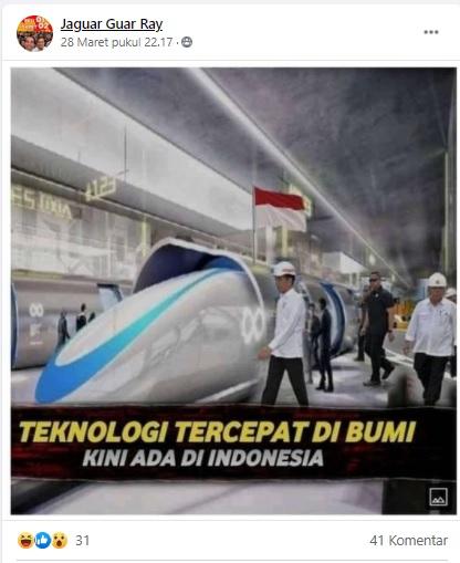 [Cek Fakta] Teknologi Kendaraan Tercepat di Bumi Kini Ada di Indonesia? Ini Faktanya