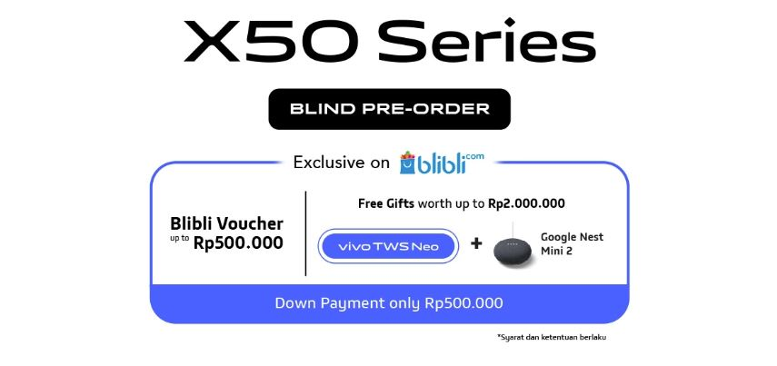 Sudah Bisa Dipesan, Berapa Harga Vivo X50 di Indonesia?