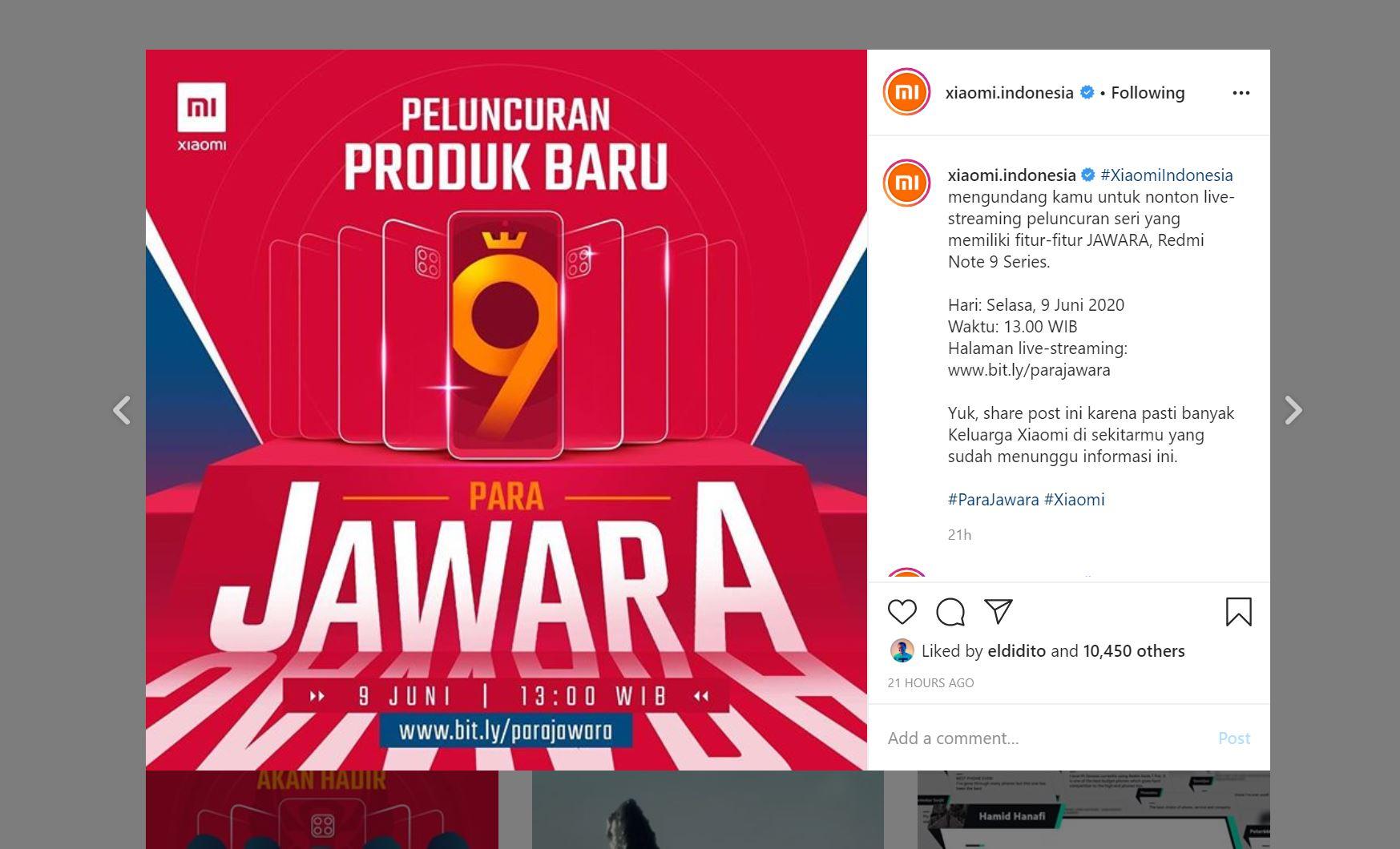 9 Juni, Xiaomi Redmi Note 9 dan Note 9 Pro Masuk Indonesia