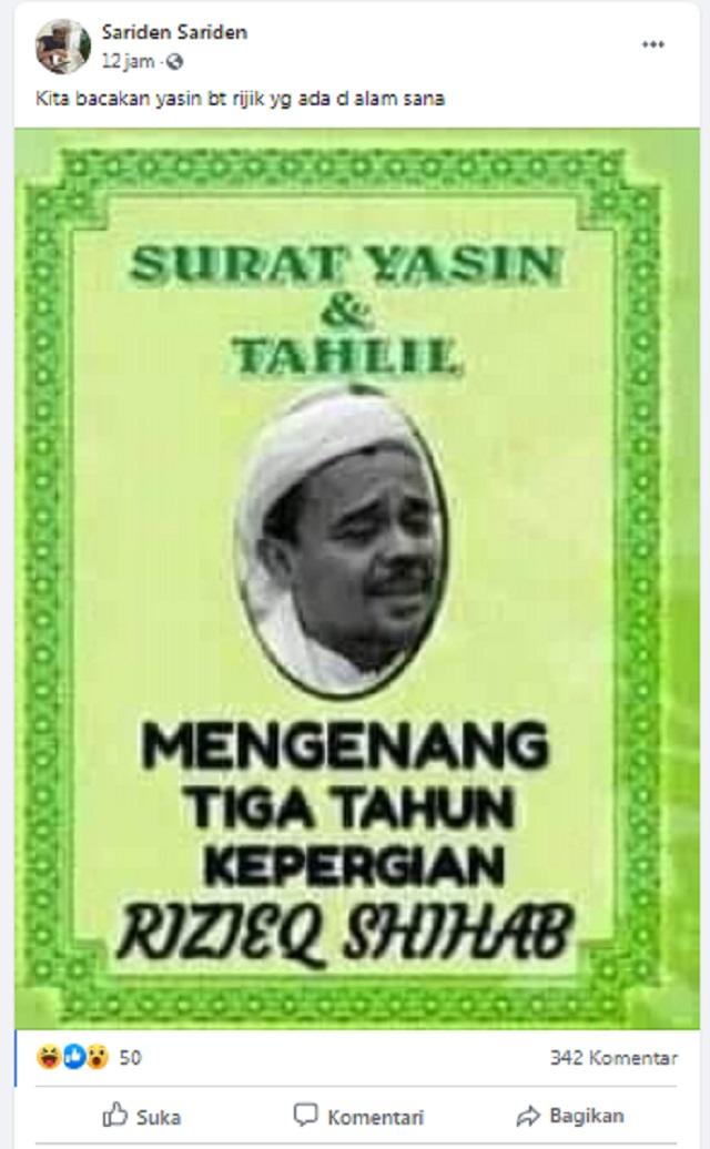 Foto Habib Rizieq Di Sampul Buku Yasin Ini Faktanya