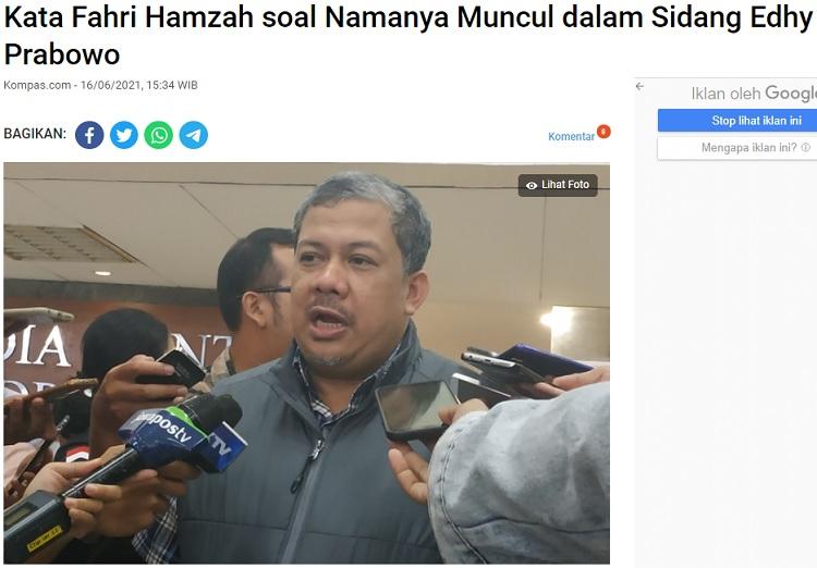 [Cek Fakta] Fahri Hamzah Resmi Ditetapkan Tersangka oleh KPK? Ini Faktanya