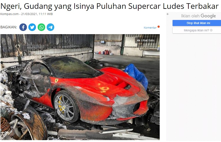 [Cek Fakta] Puluhan Mobil Mewah di Kilang Pertamina Balongan Ikut Terbakar? Ini Faktanya
