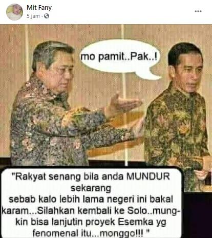 [Cek Fakta] Foto Jokowi Pamit Mundur ke SBY? Ini Faktanya