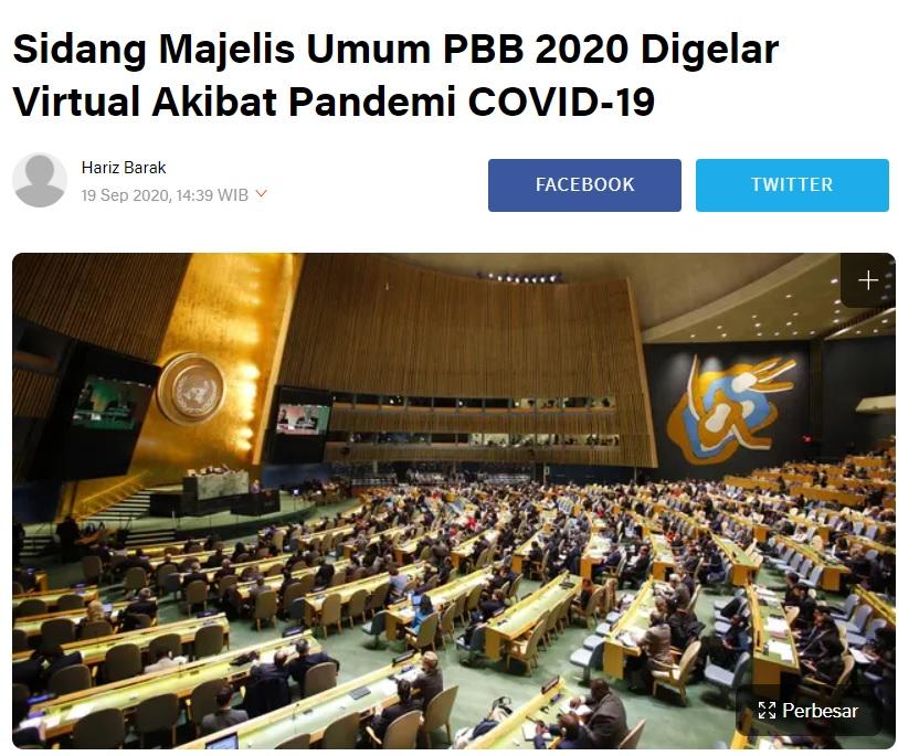 [Cek Fakta] Jokowi Tak Berani Datang ke Markas PBB karena Ancaman Sniper? Ini Faktanya