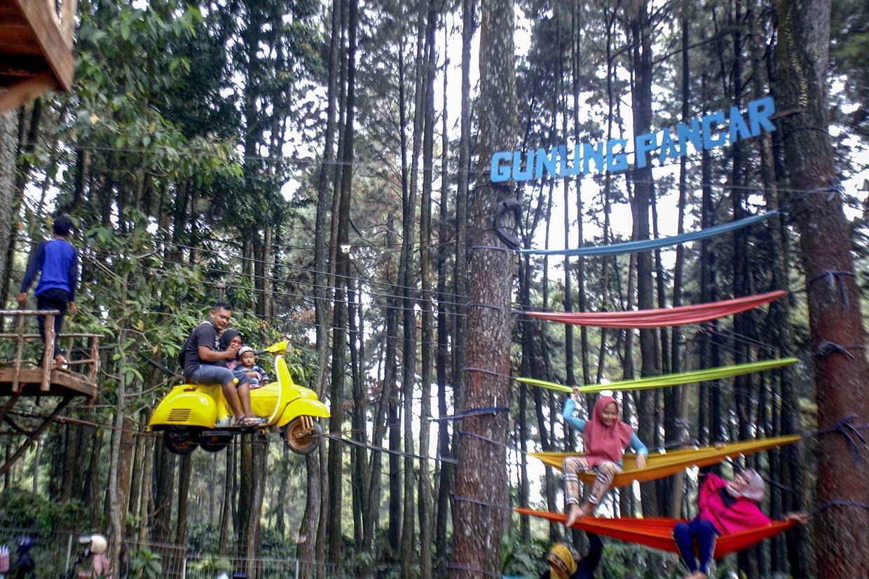 Wisata Gunung Pancar Bogor Mulai Ramai Pengunjung