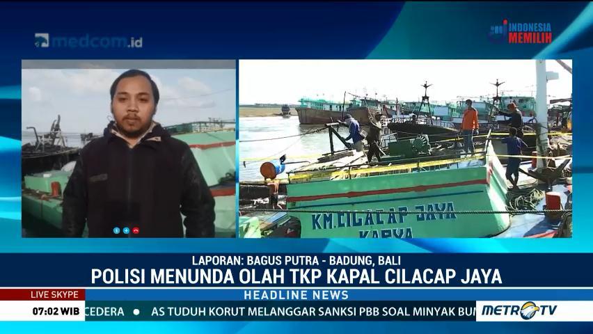 Kebakaran kapal di Bali