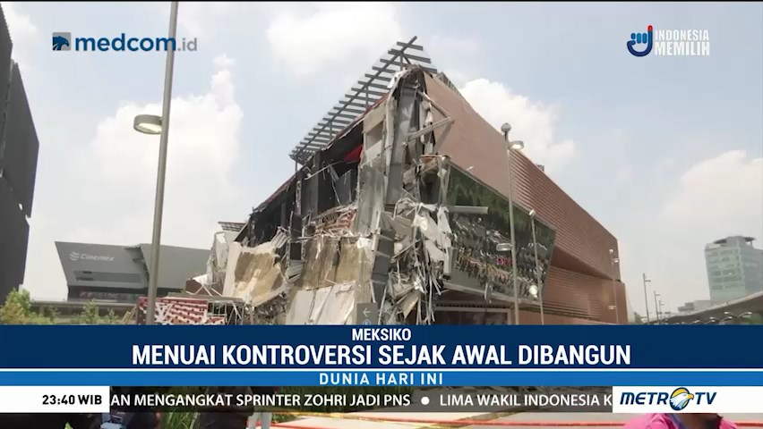 gedung ambruk